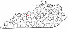 Location of Hardinsburg within Kentucky