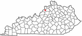 Location of La Grange, Kentucky