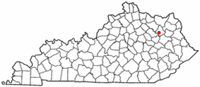Location of Lakeview Heights, Kentucky