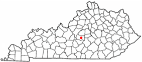 Location of Lebanon, Kentucky