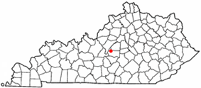 Location of Loretto, Kentucky