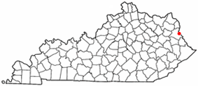Location of Louisa, Kentucky