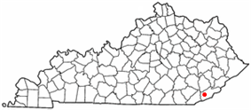 Location of Loyall, Kentucky