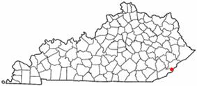 Location of Lynch, Kentucky