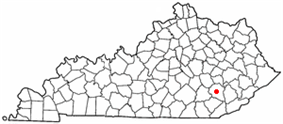 Location of Manchester, Kentucky