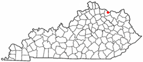Location of Maysville, Kentucky