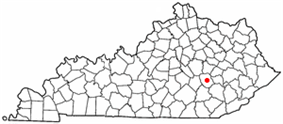 Location of McKee, Kentucky