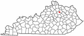 Location of Millersburg, Kentucky