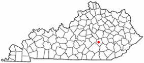 Location of Mount Vernon, Kentucky