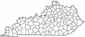 Location of Mount Washington, Kentucky
