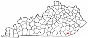 Location of Pineville, Kentucky