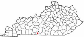 Location of Scottsville, Kentucky