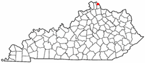 Location of Silver Grove in Kentucky