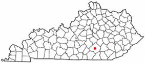 Location of Somerset, Kentucky