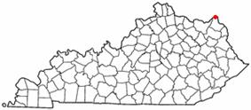 Location of South Shore, Kentucky
