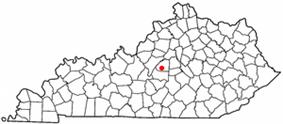 Location of Springfield, Kentucky