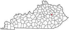 Location of Stanton, Kentucky
