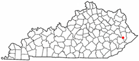 Location of Wayland, Kentucky