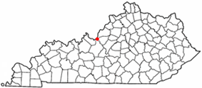 Location of West Point, Kentucky
