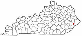 Location of Wheelwright, Kentucky