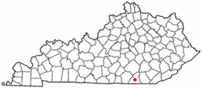 Location of Whitley City, Kentucky