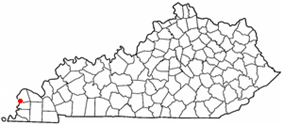 Location of Wickliffe, Kentucky
