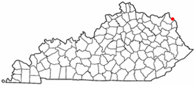 Location of Worthington, Kentucky