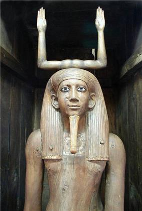 Ka statue of the pharaoh Awibre Hor, on display at the Egyptian Museum, Cairo