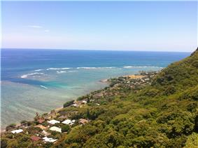 View from Crouching Lion near Kahana Valley