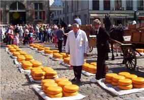 Cheese market in Gouda