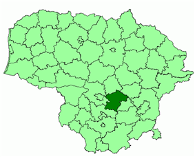 Location of Kaišiadorys district municipality within Lithuania
