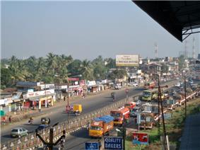 National Highway 47 passing through Kalamassery City