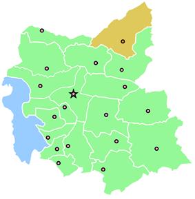 Location of Kaleybar County in East Azerbaijan Province
