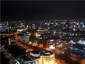 Night view of Kamata, Ōta