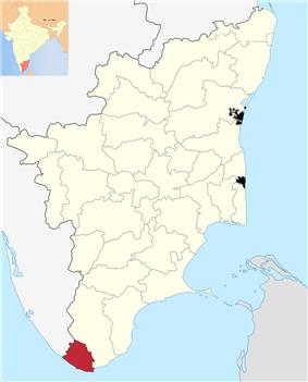 Location in Tamil Nadu,India