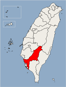 Location of Kaohsiung