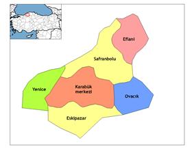 Districts of Karabük