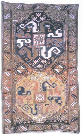 A Karabakh carpet of Malibayli sub-group. Malibayli village of Shusha, 1813. Source: IRS-Nasledie journal no 2-3(14-15), Moscow 2005, p. 97.