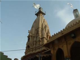 The Shikhar of the Swaminarayan Temple in Karachi