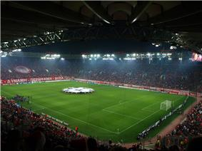 Karaiskakis Stadium Piraeus before Olympiacos-Arsenal FC