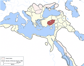 Location of Karaman Eyalet