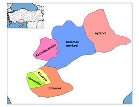 Districts of Karaman