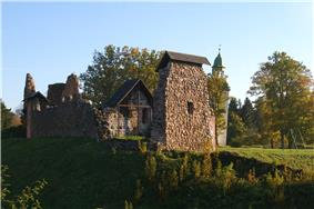 The ruins of Karksi order castle in Estonia.
