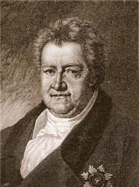Black and white print of a man with a double-chin wearing a dark coat with a decoration on the breast.