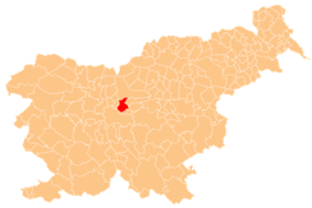 The location of the Municipality of Domžale