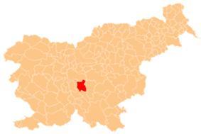 The location of the Municipality of Grosuplje