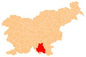 The location of the Municipality of Kočevje