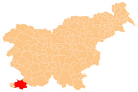 The location of the Municipality of Koper
