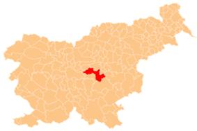 The location of the Municipality of Litija