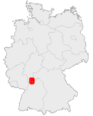 The Odenwald's location in Germany